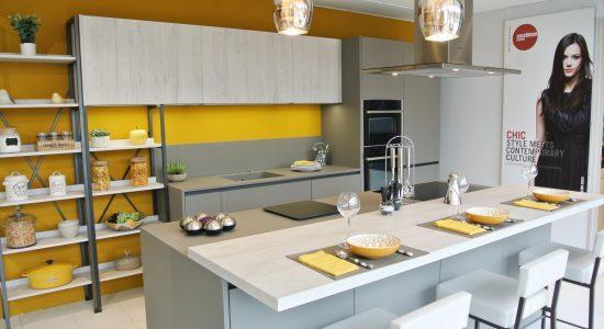 cuisine jaune et grise 1