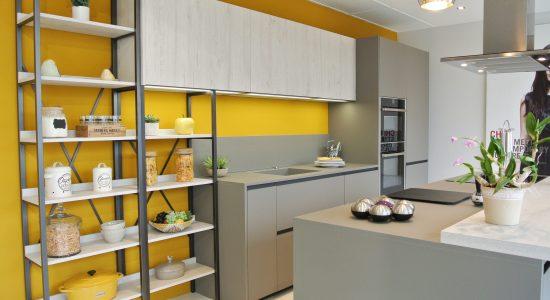 cuisine jaune et grise 2