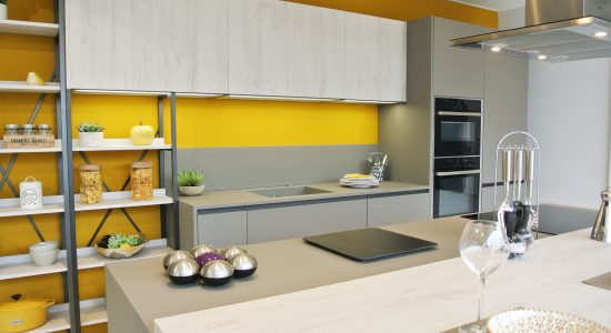cuisine jaune et grise 3