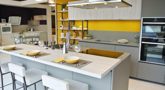 cuisine jaune et grise 4